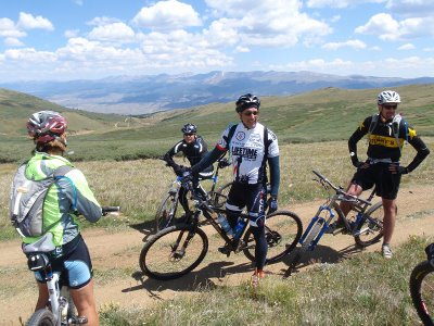 Top of Columbine Climb at the Leadville 100