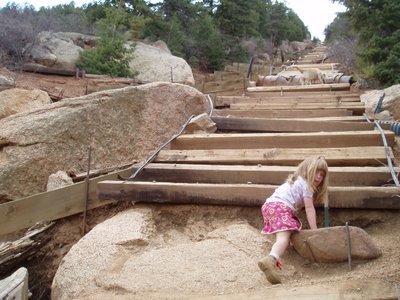 One of the Big Steps on the Manitou Incline
