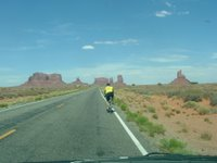 Riding Through Monument Valley, Race Across America 2006