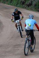 Lance Armstrong bottom of Columbine Climb, 2009 Leadville 100