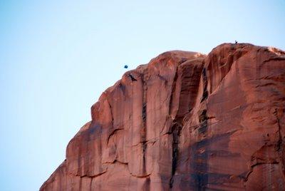 Base Jumping Along Kane Creek Road Near Moab, UT