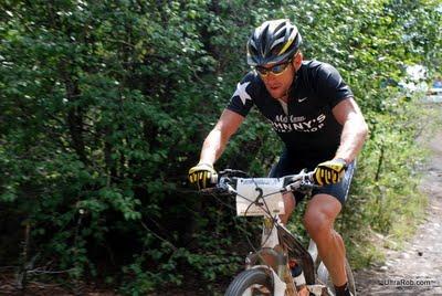 Lance Armstrong Near Bottom of Powerline 2009 Leadville 100
