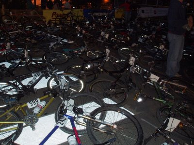 Bike Laid Out for Leadville 100 Start