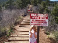 No Trespassing Sign on Manitou Incline