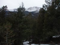 Pikes Peak from Barr Trail