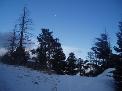 Moon from Trail Near Mount Manitou