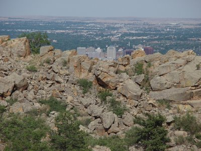 View of Downtown Colorado Springs from White Acres