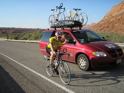 Riding Near Utah/Colorado Border, Race Across America 2006