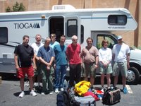David Holt and RAAM crew in Taos, NM