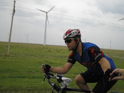 Riding in Kansas, Race Across America 2006