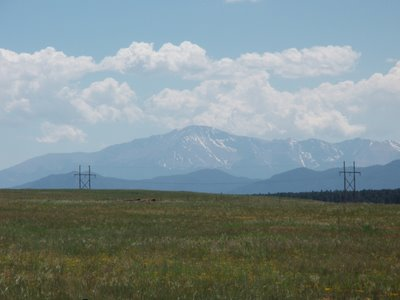 Pikes Peak from Hwy 83 just South of County Line Road