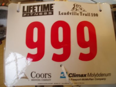 2008 Leadville 100 Race Number
