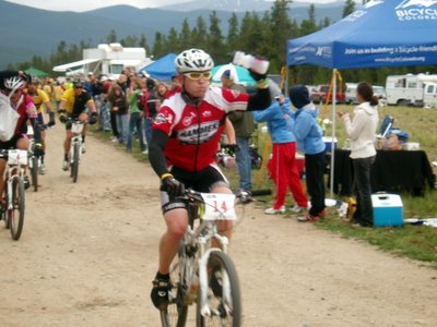 Nate Whitman Leads Lance Armstrong at the 2008 Leadville 100