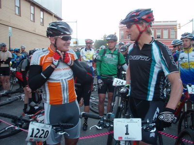 Floyd Landis and Dave Wiens at the Leadville 100