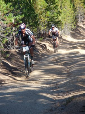 Dave Wiens Descending Powerline at the Leadville 100