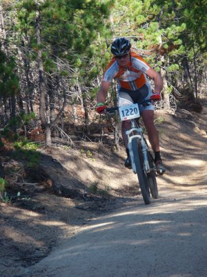 Floyd Landis Descending Powerline at the Leadville 100