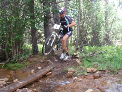 Dave Wiens at Water Crossing at Bottom of the Powerline
