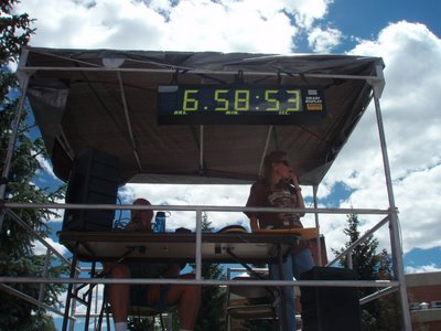 Wiens' Time Was 6:58:46.  I Was a Few Seconds Slow Taking the Picture