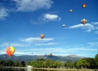 Hot Air Balloons With Pikes Peak