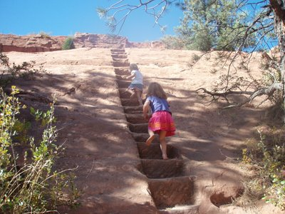 Steps up Quarry in Red Rocks Open Space