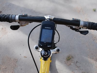 Garmin Edge 705 Mounted on Mountain Bike
