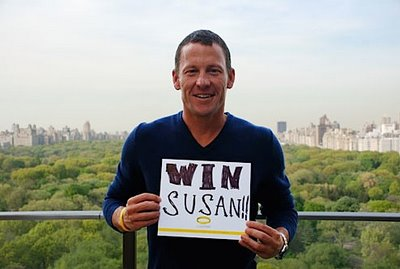Lance Armstrong with WIN Susan Sign