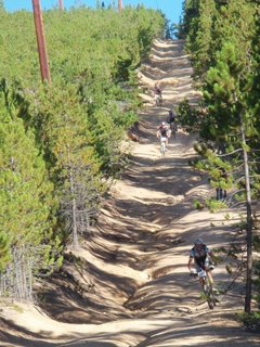 Leadville 100 Powerline Descent