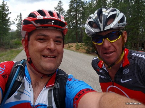Lance Armstrong on Leadville 100 Course