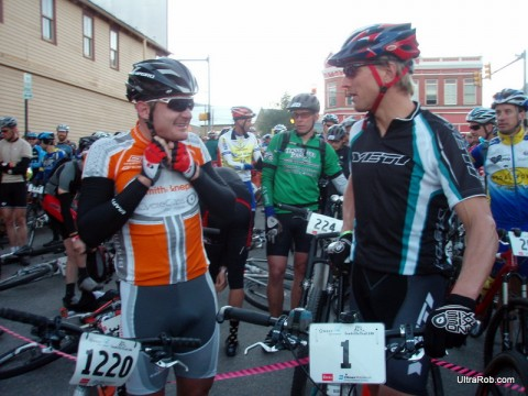 Floyd Landis and Dave Wiens at Leadville 100