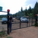 Gate into Pikes Peak South Slope