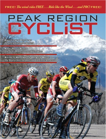 Peak Region Cyclist May 2010 Cover