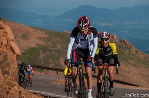 Pikes Peak Cycling Hill Climb 2013