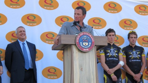 Lance Armstrong Speaking at Quiznos Pro Challenge Press Conference