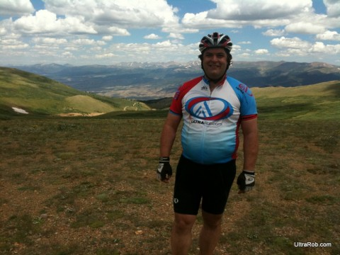 Top of Columbing During Leadville 100 Training